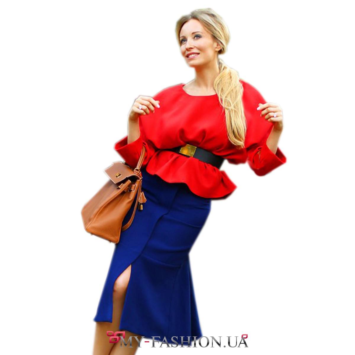Красная блузка доставка