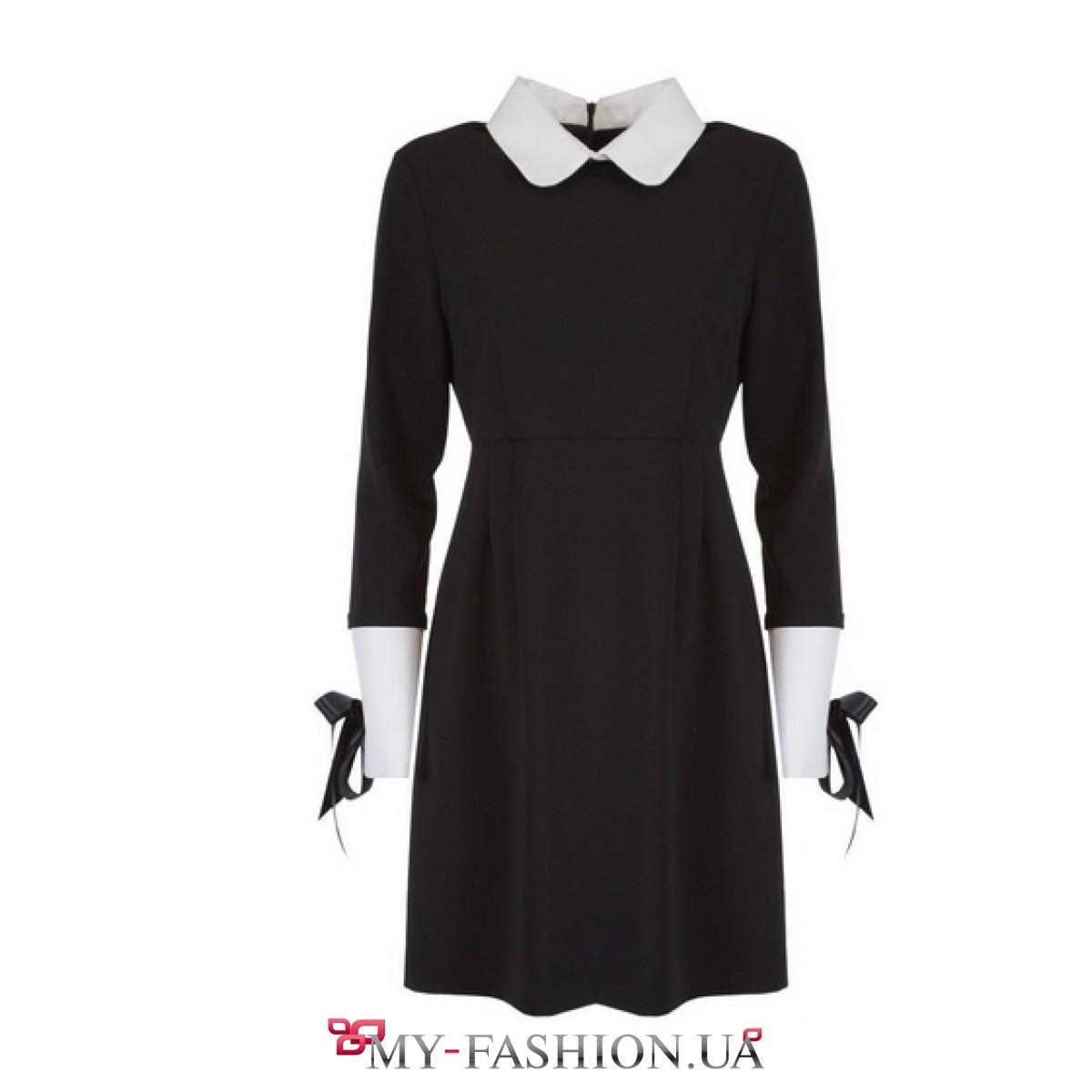 Платье с воротником и манжетами доставка