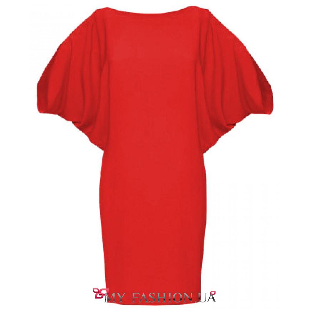 f2c9f84ba88 Асимметричное платье красного цвета с узкой юбкой купить в интернет ...