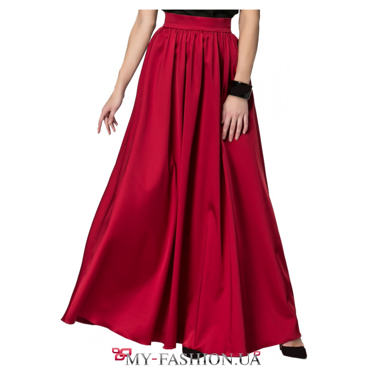 Купить красную юбку длинную