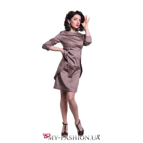 Привлекательное офисное платье из хлопка