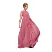 Нарядное платье пастельного розового цвета