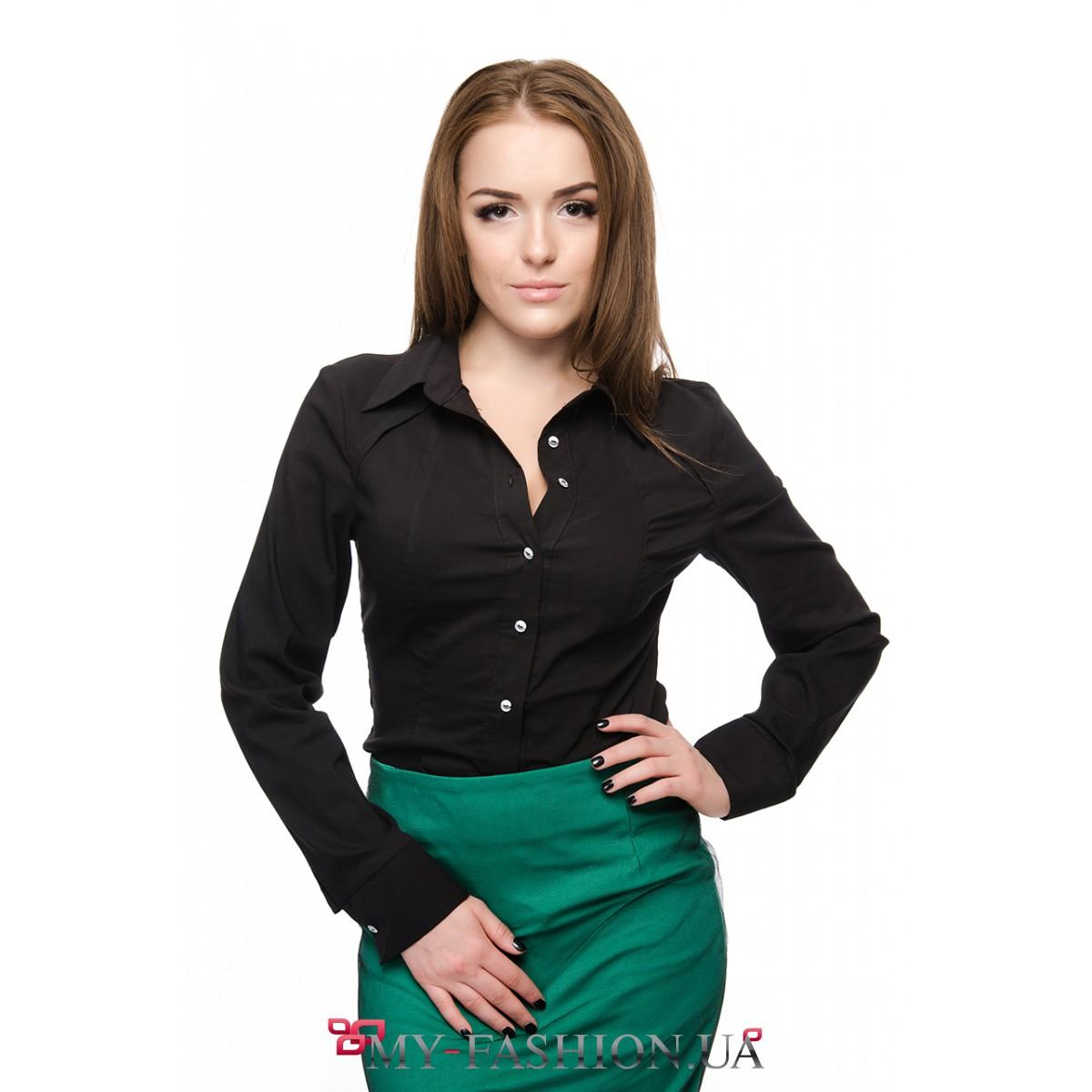 Черная блузка купить в интернет
