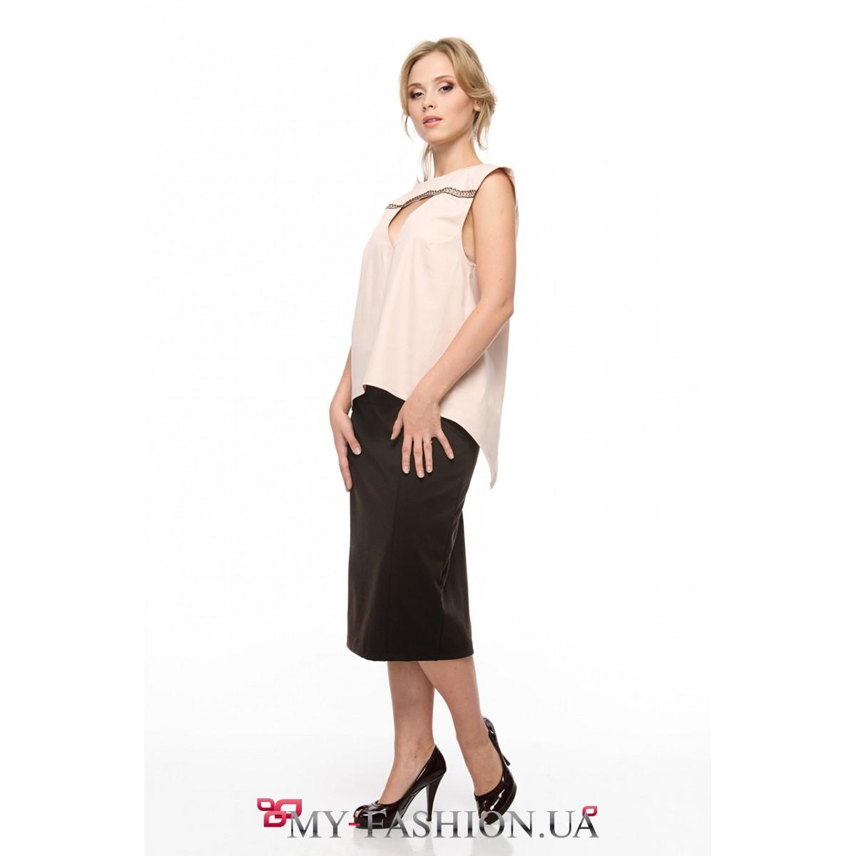 Асимметричная блузка с доставкой
