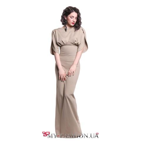 Коктейльное платье максимальной длины
