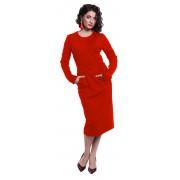 Красное платье с открытой спинкой