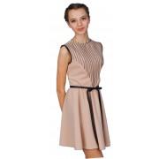 Короткое платье с оригинальной кокеткой