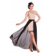 Асимметричное двойное платье для торжественных мероприятий