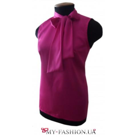 Дизайнерская яркая блузка без рукавов