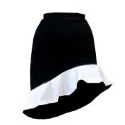Короткая юбка асимметричного кроя с воланом