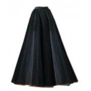Длинная чёрная юбка из мягкого фатина