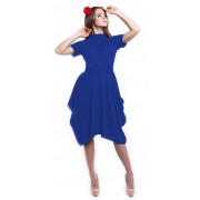Трикотажное платье насыщенного синего цвета