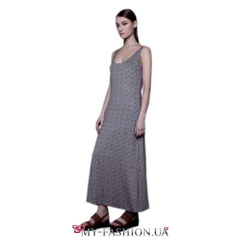 Платье-майка трапециевидного силуэта