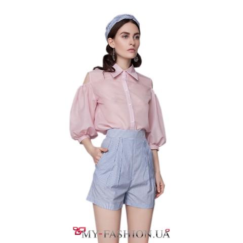Короткие женские шорты с косыми карманами