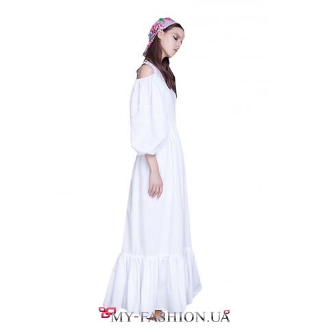 Шикарное белое платье из летней коллекции