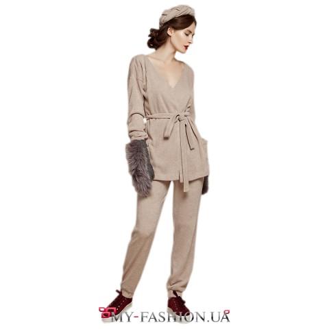 Бежевые женские брюки с доставкой