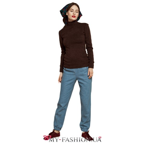 Женские джинсовые брюки свободной посадки