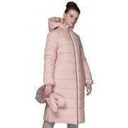 Длинное зимнее пальто с капюшоном