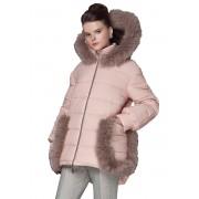 Женская зимняя куртка с меховой отделкой