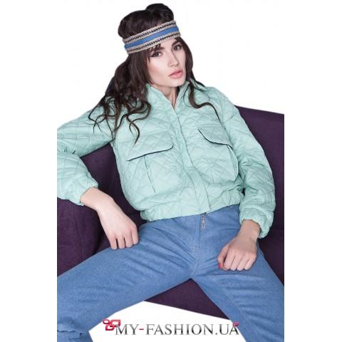 Женская куртка мятного цвета