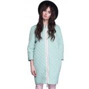 Женское пальто-баллон мятного цвета
