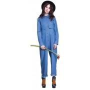 Дизайнерский синий комбинезон свободного силуэта