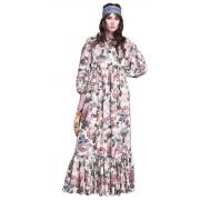 Летнее платье - сарафан с объемным рукавом