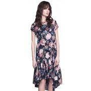 Летнее платье средней длины асимметричного кроя