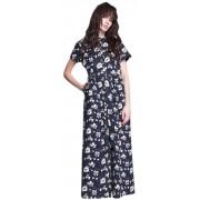 Летнее льняное платье с планкой на пуговицах