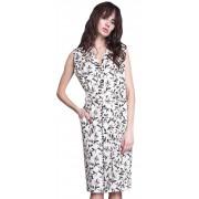 Летнее платье- халат с накладными карманами