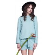 Женская спортивная блузка мятного цвета
