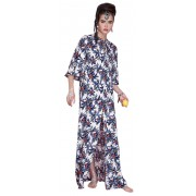 Длинное летнее платье трапециевидного силуэта