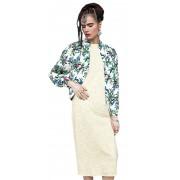 Летняя женская куртка с застёжкой на молнии