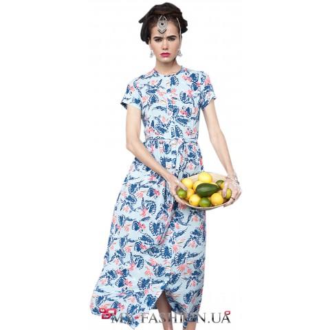 Летнее платье-рубашка максимальной длины