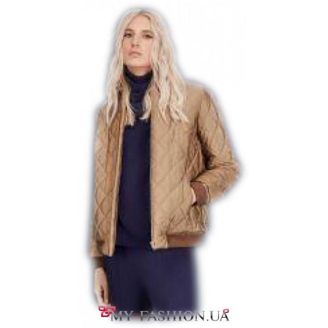 Зимняя короткая куртка прямого силуета