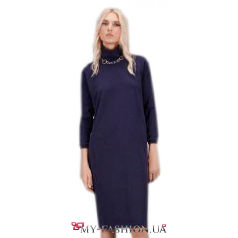 Красивое и тёплое платье-миди