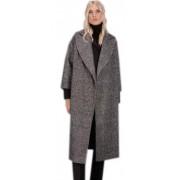 Стильное клетчатое женское пальто