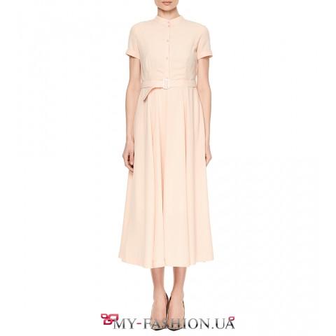 Восхитительное розовое платье