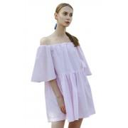 Короткое летнее платье свободного силуэта