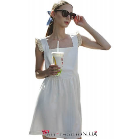 Легкий летний сарафан из белого хлопка