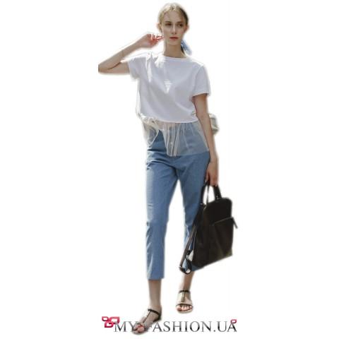 Летние джинсы на высокой талии
