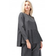 Дизайнерский блузон прямого силуэта