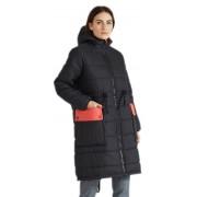 Зимнее пальто на застежке -молния под горло