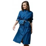 Объемного силуэта джинсовое платье
