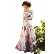 Шёлковое платье с цветочным принтом и открытой спинкой