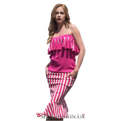 Дизайнерская юбка-годе из хлопка