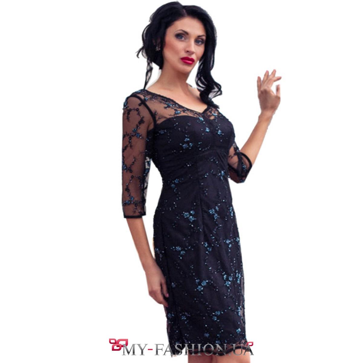 Платья с гипюром и бисером