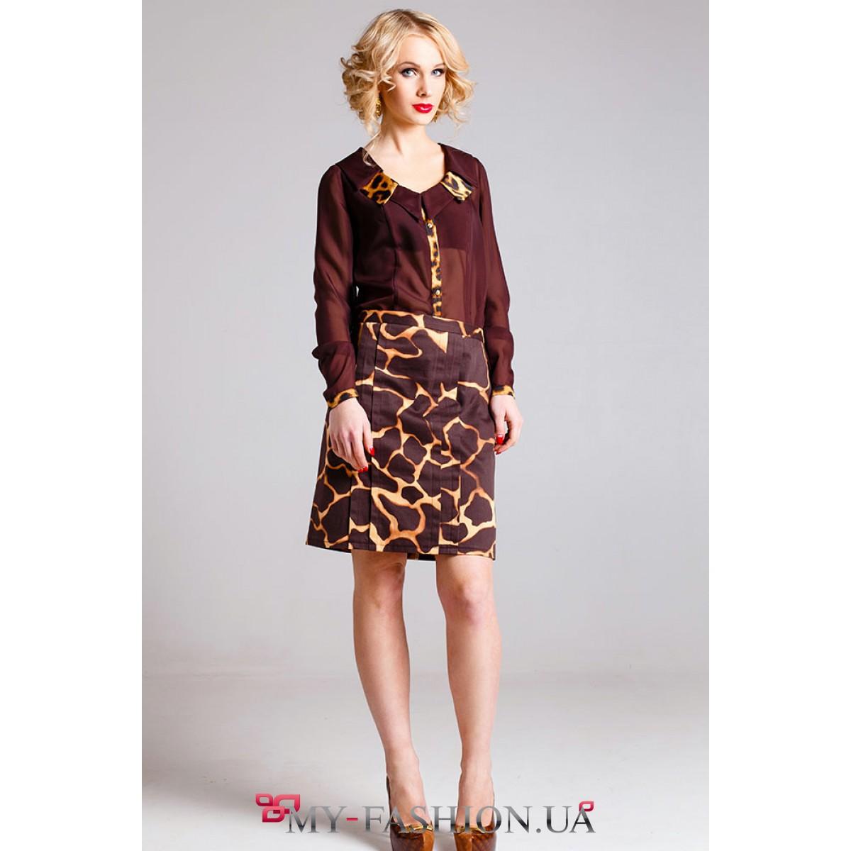 Леопардовая юбка доставка