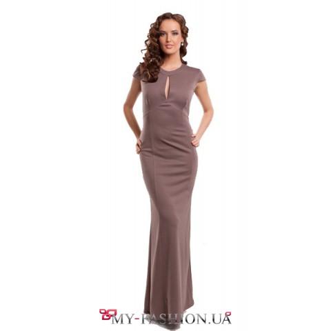 Безумно красивое платье с оголенной спинкой