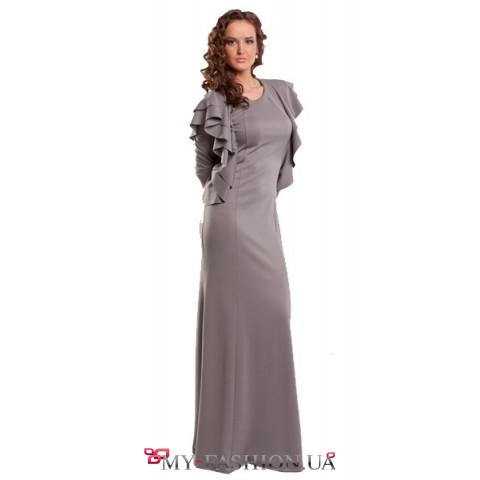 """Красивое длинное вечернее платье """"с крыльями"""""""